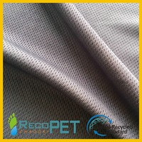 RPET bird eye fabric recycled polyester pique mesh fabric