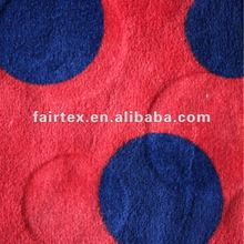 100% Polyestere Circle Cutting Circle Printed Coral Fleece