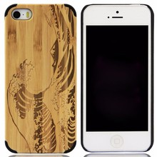 Wholesale bulk buy from china lasered engraved hybird pc wood phone case for iphone5 6 7 8