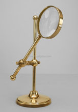 china OEM factory cnc machining brass Magnifying Glass stand custom from china factory