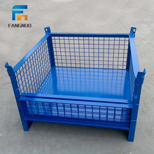Collapsible stackable stillage steel pallet box /metal storage cage container