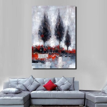 HandPainted Canvas Landscape Oil Paintings Modern Abstract Oil Painting On Canvas Wall Art Pictures For Living Room Hotel Decor