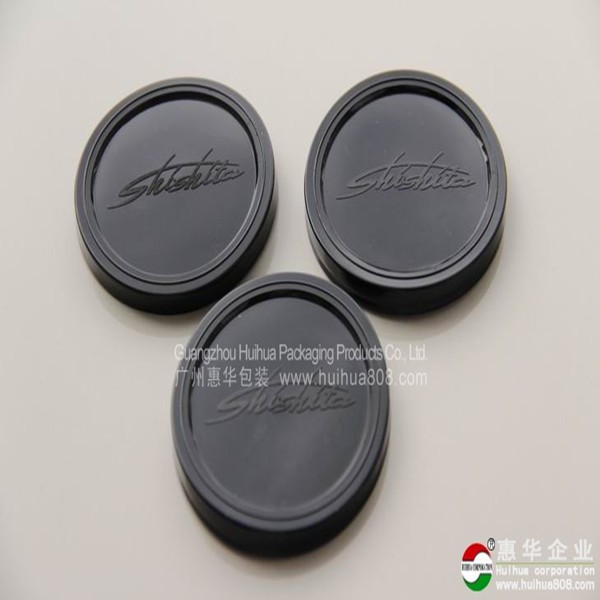 Customised embossing logo colored PE plastic lid for tin can