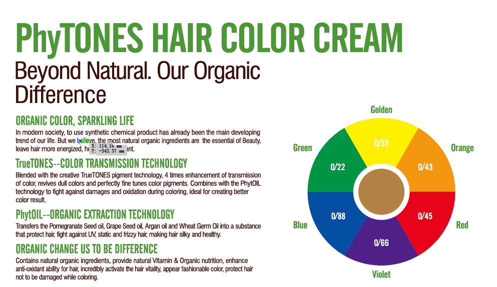 OEM Private Label hair dye organic Hair Color