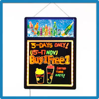 Led Painting Writing Panel Tablet With Fluorescent Marker Pen Price Sign Board