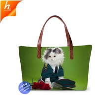 Popular Lightweight Square Personal Handbag Custom Made Your Own Picture Tote Bag Women