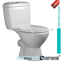 Alibaba high quality sanitary ware water closet 2 piece toilet PF121 made in China