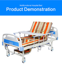 Low bed five functions cheap hospital beds for sale with stainless steel guardrails