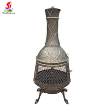 Factory Wholesale OEM & ODM Outdoor Wood Burning Cast Iron Chimenea Garden Backyard Barbecue Chimenea