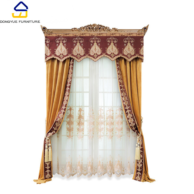 modern european style luxury hotel room curtains