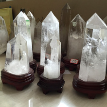 Natural Rock Large Clear White Quartz Crystal Wand Points For Sale