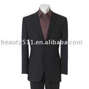Men's Navy Two Button Stripe Single Breasted Suit mr-9