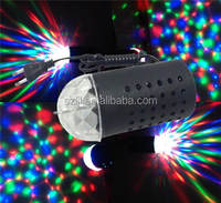 RGB Rotating Lamp DJ Stage Light 3W E27 LED Bulb 85-260V