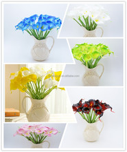 Explosion of multi colored high-end simulation flower 60cm feel Pu Calla lily full sample can be customized