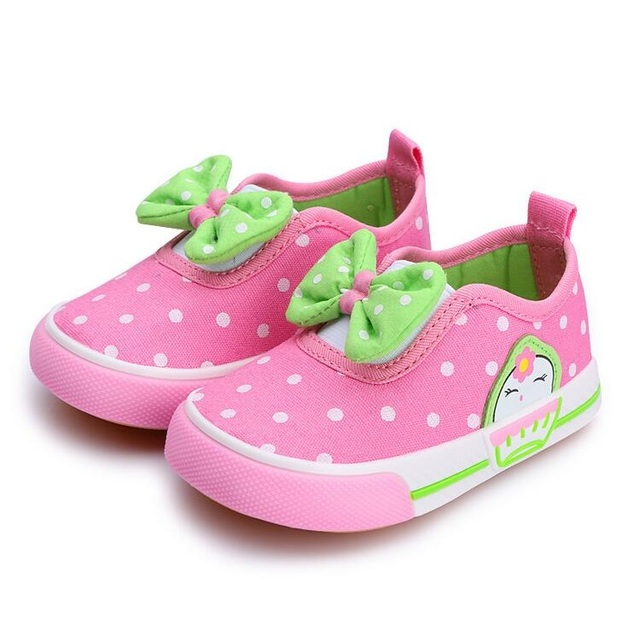 Top Quality Baby Cute Bowknot Casual Sneakers Korea Kids Shoes