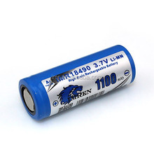 imren18490 1100mah,provari mod,18490 flat top battery,imren 18490 battery,provari mini,1100mah 3.7v battery
