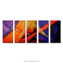 Abstract modern pop art wall hanging oil painting on canvas