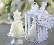 Personalized Gown White Wedding Dress Candle