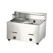 Brandon large capacity counter top gas double deep fryer