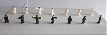 1:200 miniature plastic model Arabs figures for scale model/architectural model layout/landscape layout