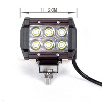 Wholesale High Quakity YC019 Waterproof 18W LED Off Road Bar Light for All Cars