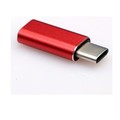 2017 New technology Red Metal casing Type-c to magnetic micro usb adapter