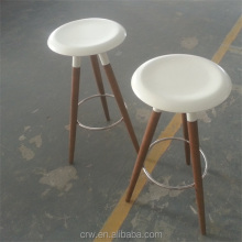 WH-4012 White Teak Wood Stools For Sale