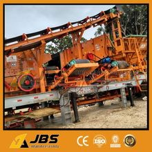 China Supplier JBS mobile vibrating feeder and cone crusher plant for sale