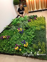 New design high quality artificial most realistic artificial green wall for home decoration artificial plant wall
