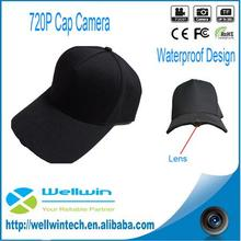 Digital 720P Wearable Hat Cap Hidden Camera Outdoor Internal Steaming Live Hidden Camcorder Video Recorder with Wifi