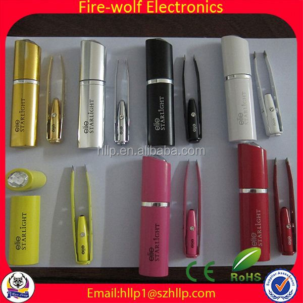 2014 Factory Products advertising led lighted tweezer with mirror