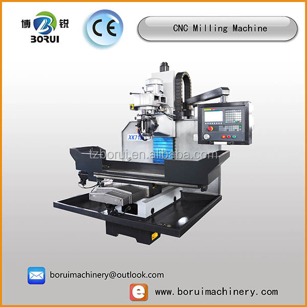 Borui brand xk7125 Portable mini cnc milling machine used for sale