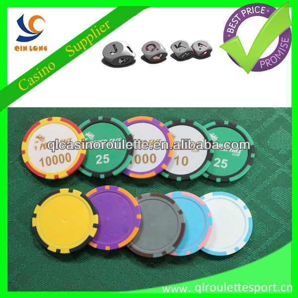 11.5g ABS poker chips Sticker logo BIG sticker double color