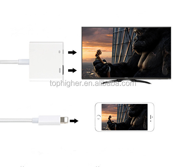 HDTV Digital Cable Adapter for iPod AV Adapter for IOS 11.2 Lighting to Digital AV Adapter Converter Crazily Selling in 2018