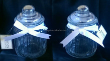 Pair of Glass Storage / Sweetie Jars with Seal