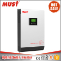 MUST Lowest price 2kva 3kva 4kva 5kva hybrid solar inverter with build-in mppt charge controller