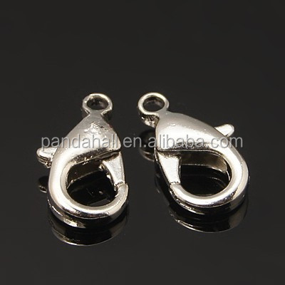 Nickel Free Platinum Plated Jewelry Findings Brass Lobster Claws Clasps