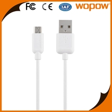 Wopow fast speed smart phone android charger line thin cable micro usb
