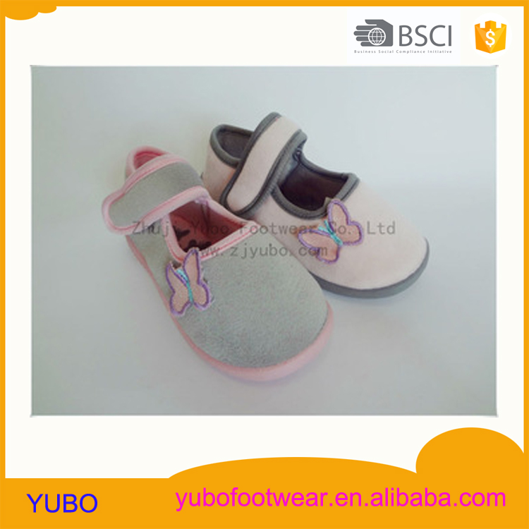 Beautiful butterfly pattern injection girl baby shoe