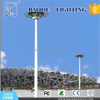 High quality Steel Pole 25-30m Galvanized Led High Mast Light Pole manufacture in china
