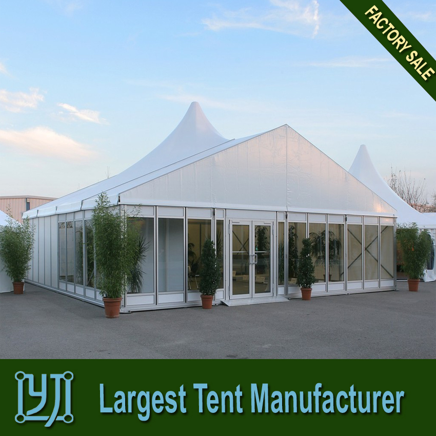 Custom Made Aluminium Frame White Wedding Tents 20x30m with glass wall for Sale