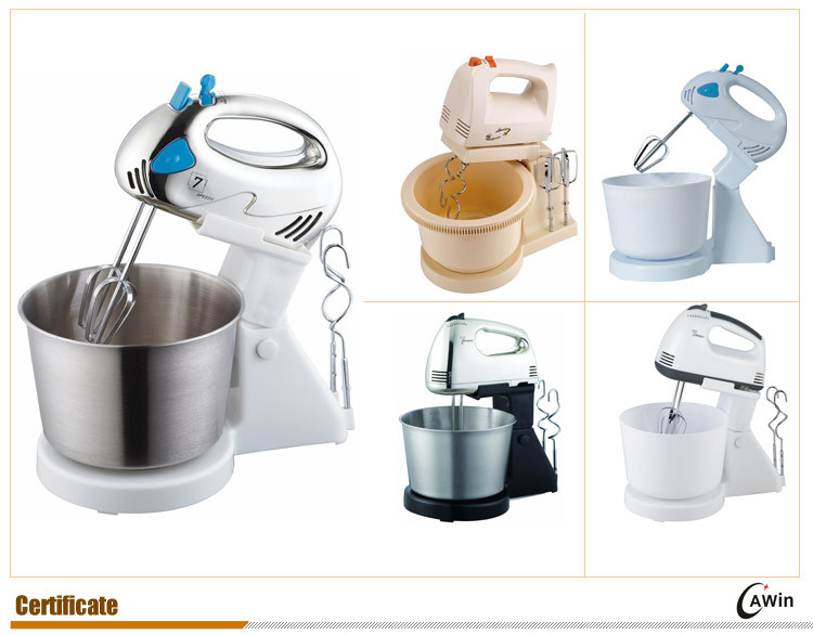 7 Speeds Hand Mixer With Rotational Bowl