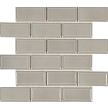 China Supplier lowes Backsplash Design Grey Subway Ceramic Mosaic Tiles For Wall