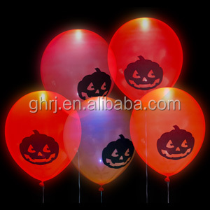 Inflatable halloween pumpkin balloon LED Balloons 12 inch 2.8g for festival decoration
