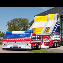 inflatable fire bouncy slide truck