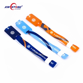 New customized woven logo wristband for promotional gift