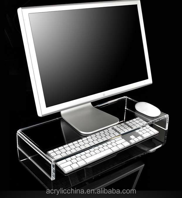 High quality clear acrylic computer monitor stand