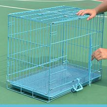RoblionPet Dog Cage Dog Crate Dog Kennel Pet Cat Metal Folding Portable Puppy Carrier Tray Home