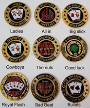 Poker card guard, High Quality Metal Poker Chips(24kt Gold Plated Finished), card guard protector