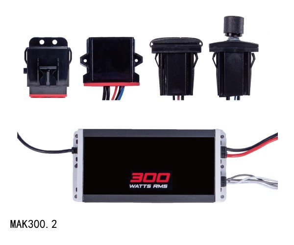 Amplifier Kits Marine and Power Sports Audio System MAK300.2
